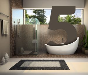 5 ways to create a high Tech bath
